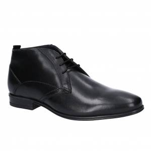 Hush Puppies Hush valper Mens Bertrand Chukka støvel Svart 10