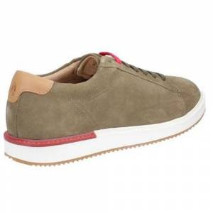 Hush Puppies Hush valper mens Heath BouncePLUS Lace opp Suede Shoe Oliven 8 UK
