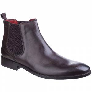 Base London Mens Cheshire Smooth Leather Formal Chelsea Dealer Boot...