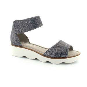 Gabor sandal med lav hæl, (Lys blå)