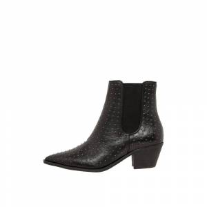Bianco Studded Ankle boots