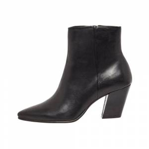 Bianco Ankle Boots Zip-up leather