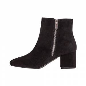 Bianco Ankle Boots Double-Zip suede
