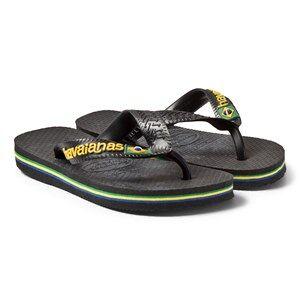 Havaianas Black Brazilian Flip Flops 39/40 (UK 5)