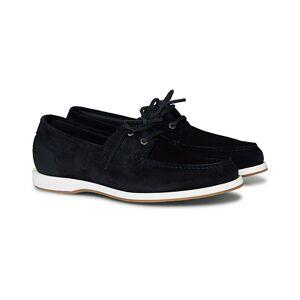 Boss Harbour Suede Boat Shoe Dark Blue