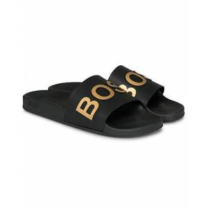 Boss Bay Slide Flip Flop Black/Gold