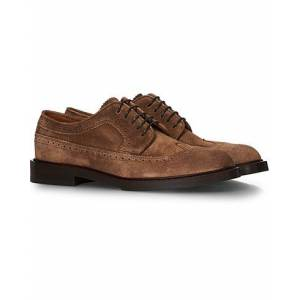 Brunello Cucinelli Longwing Brogue Brown Suede