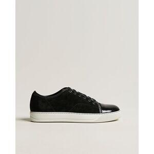 Lanvin Patent Cap Toe Sneaker Black