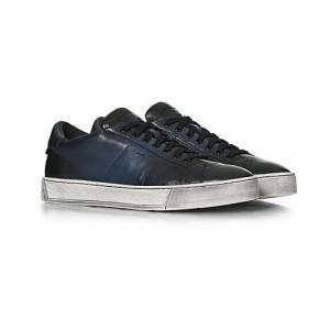 Santoni Nappa Soft Sneaker Navy Patina