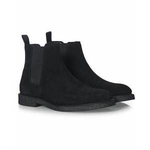 Boss Tunley Suede Chelsea Boots Black