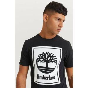Timberland T-Shirt Yc Ss Stack Logo Tee Reg Svart  Male Svart