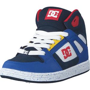 DC Shoes Pure High.top Se Navy/red, Skor, Sneakers & Sportskor, Höga sneakers, Blå, Barn, 35