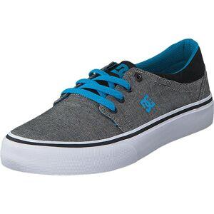 DC Shoes Trase TX SE Grey Heather, Skor, Sneakers & Sportskor, Låga sneakers, Blå, Barn, 29