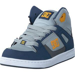 DC Shoes Rebound SE/Glow in the dark Blue/Grey/Blue, Skor, Sneakers & Sportskor, Höga sneakers, Blå, Barn, 29