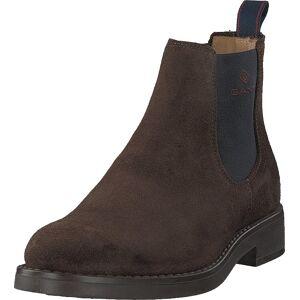 Gant Oscar Chelsea Dark Brown, Skor, Kängor & Boots, Chelsea Boots, Brun, Herr, 45