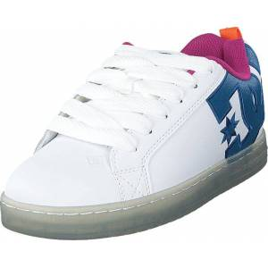 DC Shoes Court Graffik Se White/black/cyan, Skor, Sneakers & Sportskor, Sneakers, Blå, Vit, Herr, 45