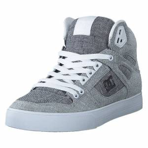 DC Shoes Pure High-top  Wc Tx Se Grey/grey/white, Herr, Shoes, blå, EU 44,5