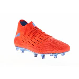 Puma Future 19,1 Netfit FG AG mens röd textil Athletic Soccer cleat...