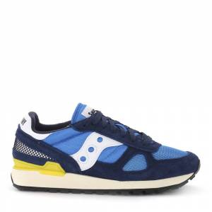 Saucony Shadow Vintage blue suede and light-blue fabric sneaker