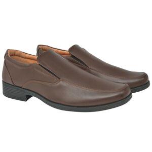 vidaXL Loafers herr storlek 42 konstläder brun