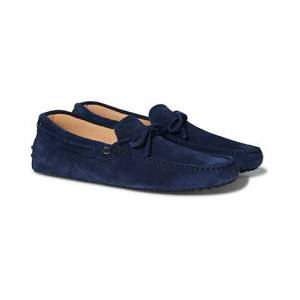 Tod's Laccetto Gommino Carshoe  Dark Blue Suede