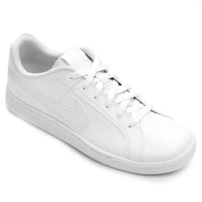 Tênis Couro Nike Court Royale Masculino - Masculino-Branco
