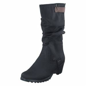 Rieker Y8086-00 00 Black, Dame, Sko, Boots, Sort, EU 38