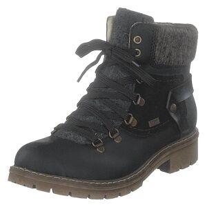 Rieker Y9143-01 Black, Dame, Sko, Boots, Sort, EU 39