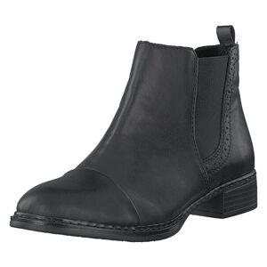 Rieker 73473-00 Black, Dame, Sko, Chelsea boots, Grå, EU 38