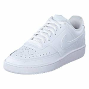 Nike Wmns Court Vision Low White/white, Shoes, hvid, EU 44