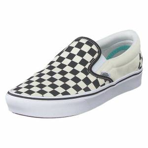 Vans Ua Comfycush Slip-on (classic) Checkerboard/true Wh, Sko, Slip-on, Hvid, EU 41