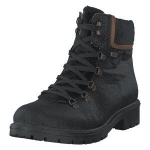 Rieker Y9128-00 Black, Dame, Sko, Boots, Sort, EU 38