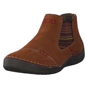 Rieker 52590-22 Noccia, Dame, Sko, Chelsea boots, Brun, EU 37
