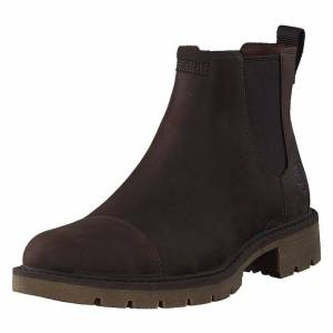 Timberland Elmhurst Chelsea Dk Brown Full Grain, Herre, Sko, Chelsea boots, Brun, EU 44