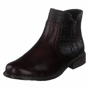 Rieker Z49a1 Brown, Dame, Sko, Chelsea boots, Sort, EU 39