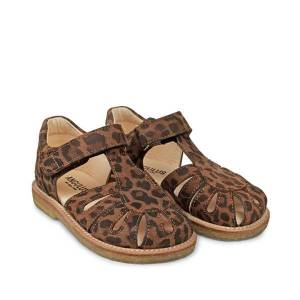 ANGULUS Sandal m. Lukket Tå - Leopard