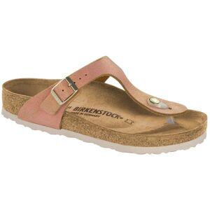Birkenstock Gizeh Leather Washed Metallic - Lightpink * Kampanja *