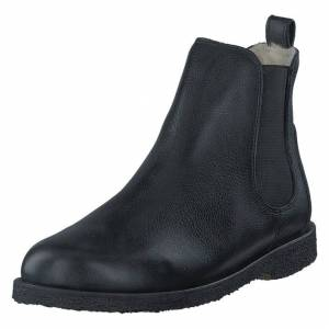 Angulus Chelsea boot with wool lining Black/Black, Naiset, Kengät, Chelsea boots, Musta, EU 39