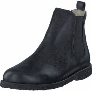 Angulus Chelsea boot with wool lining Black/Black, Kengät, Bootsit, Chelsea boots, Musta, Naiset, 38