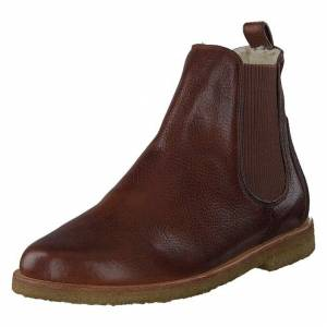 Angulus Chelsea boot with wool lining 2509 Medium Brown, Naiset, Kengät, Chelsea boots, Ruskea, EU 40