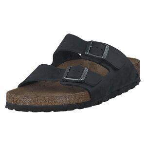 Birkenstock Arizona Slim Soft Black Oiled Leather, Kengät, Musta, EU 39