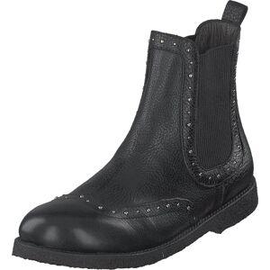 Angulus Chelsea Boot W Elastic Black, Kengät, Bootsit, Chelsea boots, Musta, Lapset, 34