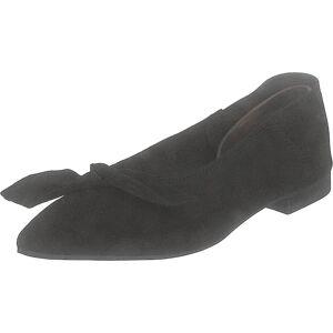 Bianco Berna Suede Bow Shoe 101 - Black 1, Kengät, Matalapohjaiset kengät, Ballerinat, Musta, Naiset, 41