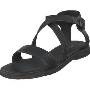 Angulus Sandal With Buckle Black, Kengät, Sandaalit ja Tohvelit, Remmisandaalit, Musta, Naiset, 39