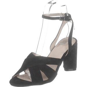 Bianco Carlie Suede Sandal 101 - Black 1, Kengät, Korkokengät, Matalakorkoiset Sandaletit, Musta, Naiset, 36