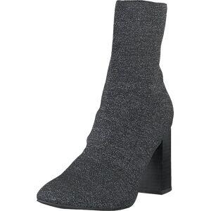 Bianco Biaellie Knit Boot Black 5, Kengät, Saappaat ja saapikkaat, Korkeat nilkkurit, Musta, Naiset, 40