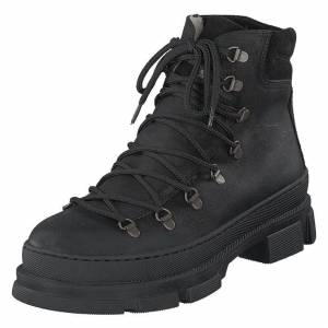 Angulus Boot With Laces And D-rings Black, Naiset, Kengät, Vaelluskengät, Musta, EU 38