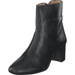 Angulus Block Heel Boot With Zipper Black, Kengät, Saappaat ja Saapikkaat, Nilkkurit, Harmaa, Naiset, 40