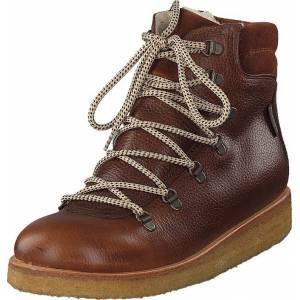 Angulus Tex-boot With Laces And Zipper Cognac/brown/brown, Kengät, Bootsit, Kengät, Ruskea, Unisex, 32