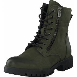 Bianco Biacollins Winter Leather Boot Army Green, Kengät, Bootsit, Kengät, Vihreä, Naiset, 37